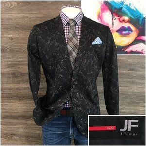 New J Ferrar Mens Sport Coat Slim Fit Jacket Sz XL